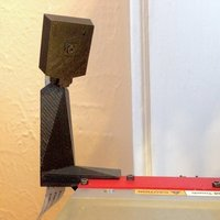 Small raspberry pi camera stand for Printrbot Simple  w/ cable tunnel 3D Printing 47207