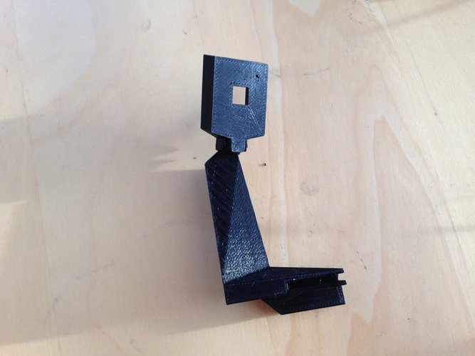 raspberry pi camera stand for Printrbot Simple  w/ cable tunnel 3D Print 47208