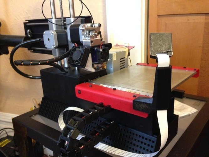 raspberry pi camera stand for Printrbot Simple  w/ cable tunnel 3D Print 47210