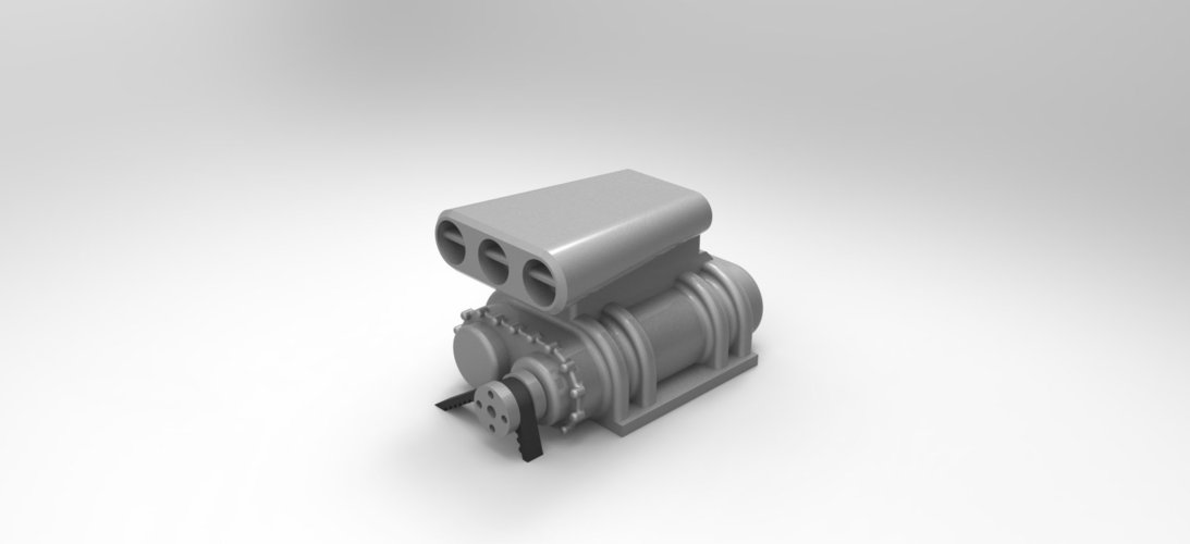 1/10 RC Supercharger  (or bigger or smaller :) ) 3D Print 47314