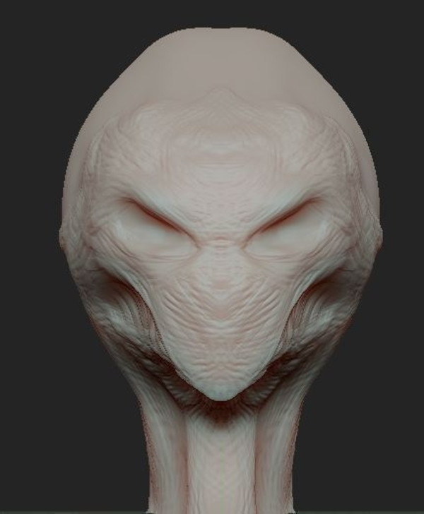 Medium RED ALIEN BRUTE  (Updated 8-29-17) 3D Printing 47608