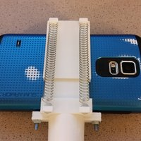 Small Spring Loaded Phone Holder 3D Printing 47666