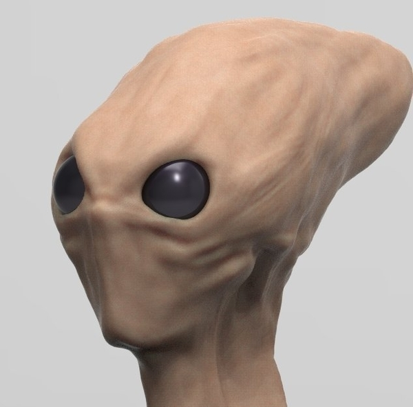 Medium Red Alien Scout Updated 8-29-17 3D Printing 47696
