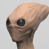 Small Red Alien Scout Updated 8-29-17 3D Printing 47696