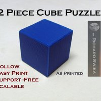 Small 2 Piece Cube Puzzle 3D Printing 47822