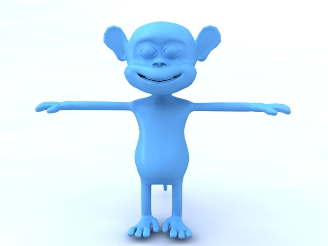 Monkey cartoon 3D Print 479