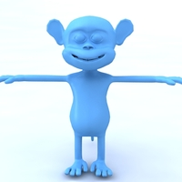 Small Monkey cartoon 3D Printing 479