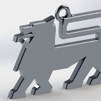 Small Food Lion logo keychain 3D Printing 47905