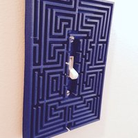 Small Overlook maze from The Shining as a switch plate. 3D Printing 47985