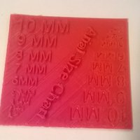 Small Arial Text Size Chart 3D Printing 48137