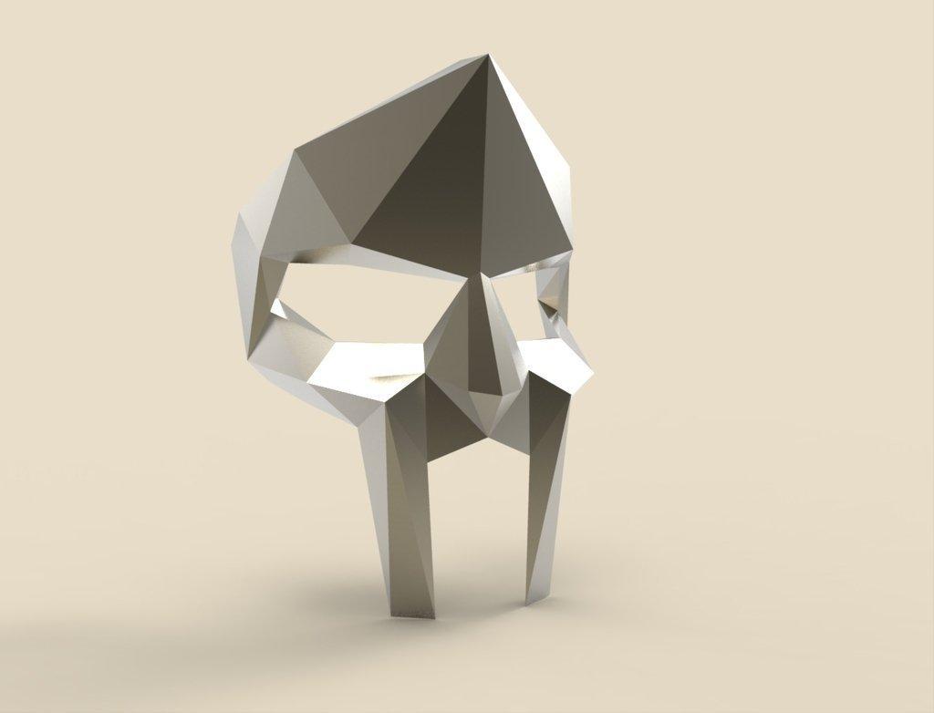 3D Printed MF DOOM Mask By Poligonia