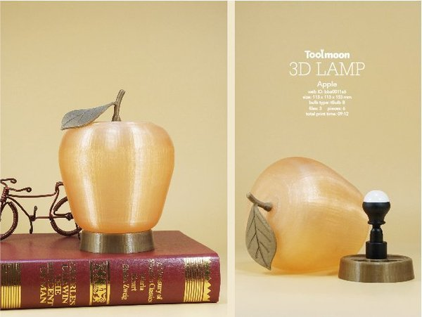 Medium Apple lamp 3D Printing 48200