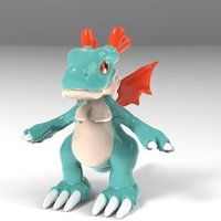 Small Dracomon Digimon 3D Printing 48256