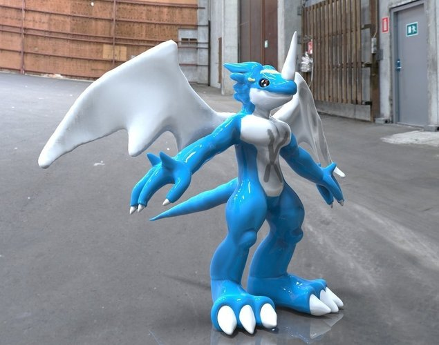 Veemon Evolution Base 3D Print 48260