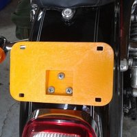 Small motor cycle license plate 3D Printing 48264