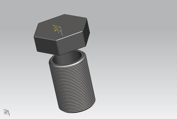 Medium Bolt container 3D Printing 48338
