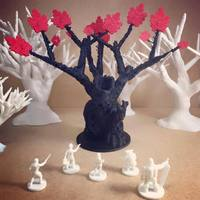 Small Undead Treeman (18mm scale) 3D Printing 48369