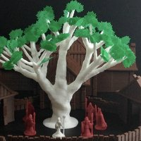 Small Sacred Ash Tree (18mm scale) 3D Printing 48371