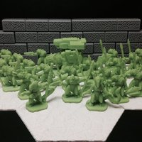 Small Slisk Raiding Party (18mm scale) 3D Printing 48374