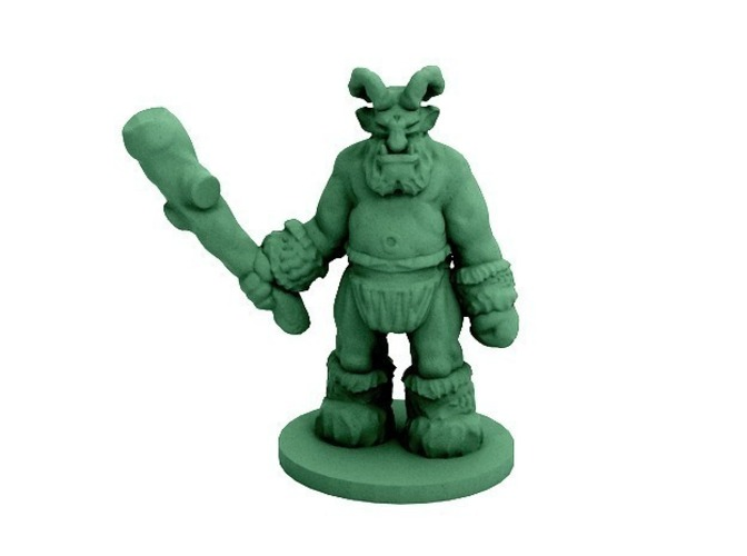 Noble Hero and Elder Hill Troll (18mm scale) 3D Print 48389