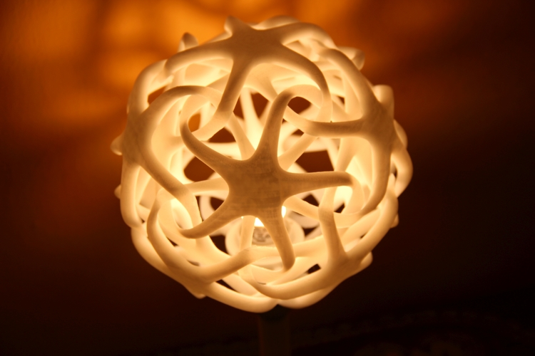 Double Star Lamp (Shade and Base)  3D Print 4839