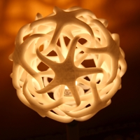 Small Double Star Lamp (Shade and Base)  3D Printing 4839