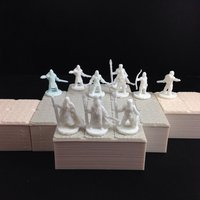 Small Viking Warband Part 2 (18mm scale) 3D Printing 48395