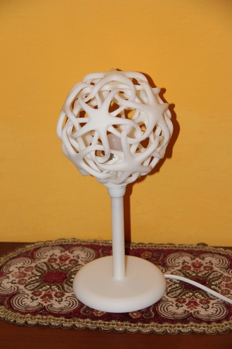 Double Star Lamp (Shade and Base)  3D Print 4841