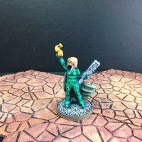 Small Wayfarer Miniatures: Elf Street Mage (28mm and 18mm scale) 3D Printing 48462