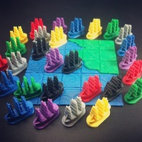 Small Galleon Board Game Piece 3D Printing 48477
