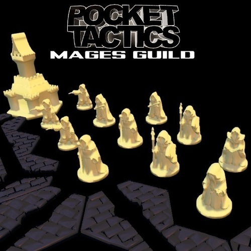 Pocket-Tactics: Mages Guild 3D Print 48512