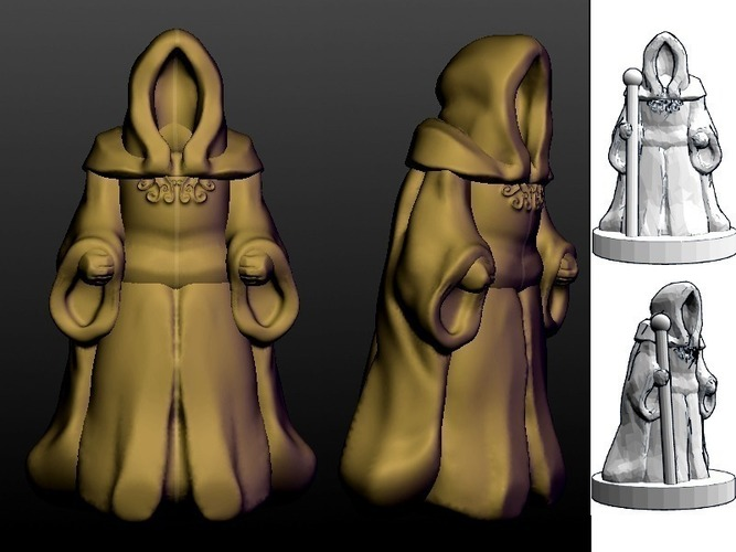 Pocket-Tactics: Mages Guild 3D Print 48514