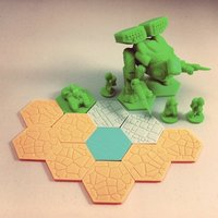 Small Pocket-Tactics: Zyntari Deep Space Salvage Crew 3D Printing 48563