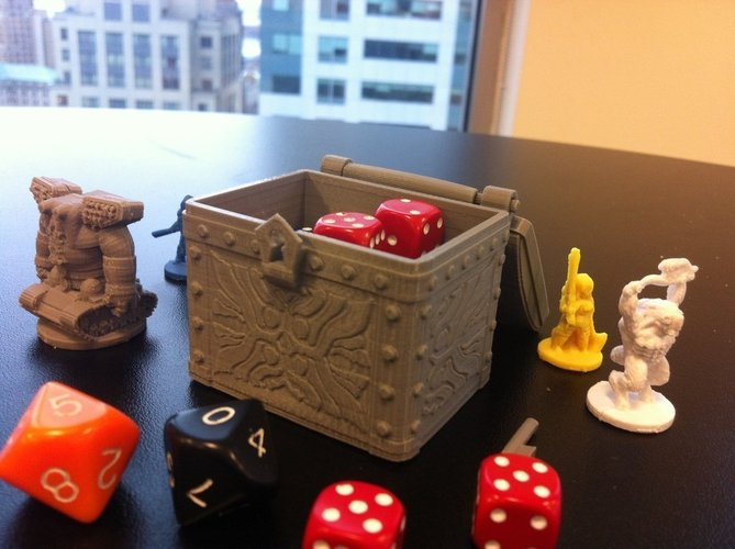 Tresure Chest Dice Case 3D Print 48606