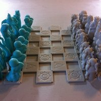 Small Robots Versus Wizards Chess Set 3D Printing 48652