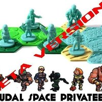 Small Pocket-Tactics: Feudal Space Privateers 3D Printing 48702