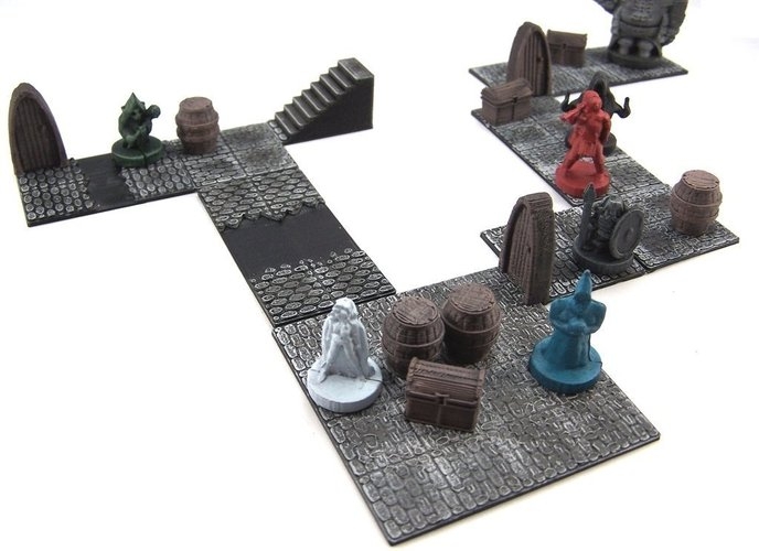 Modular Dungeon Tiles: Core Set 3D Print 48777