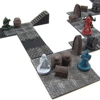 Small Modular Dungeon Tiles: Core Set 3D Printing 48777
