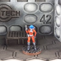 Small Space Girl (28mm Miniature) 3D Printing 48931