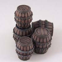 Small Delving Decor: Medieval Barrels 3D Printing 48989