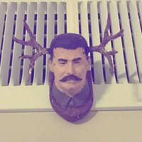 Small Stalin Antler Plaque 3D Printing 49217