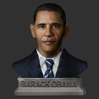 Small Barack Obama Bust 3D Printing 49419