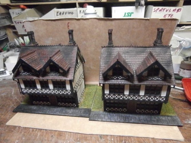 SCALEPRINT TUDOR BUILDING SMALL TAVERN 3D Print 49468