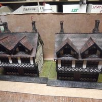 Small SCALEPRINT TUDOR BUILDING SMALL TAVERN 3D Printing 49468