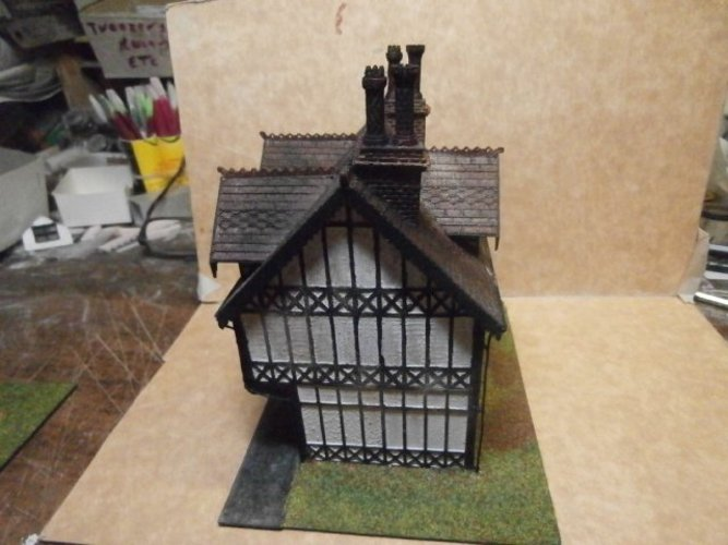 SCALEPRINT TUDOR BUILDING SMALL TAVERN 3D Print 49469