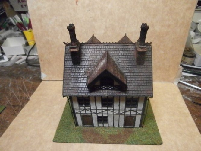 SCALEPRINT TUDOR BUILDING SMALL TAVERN 3D Print 49470