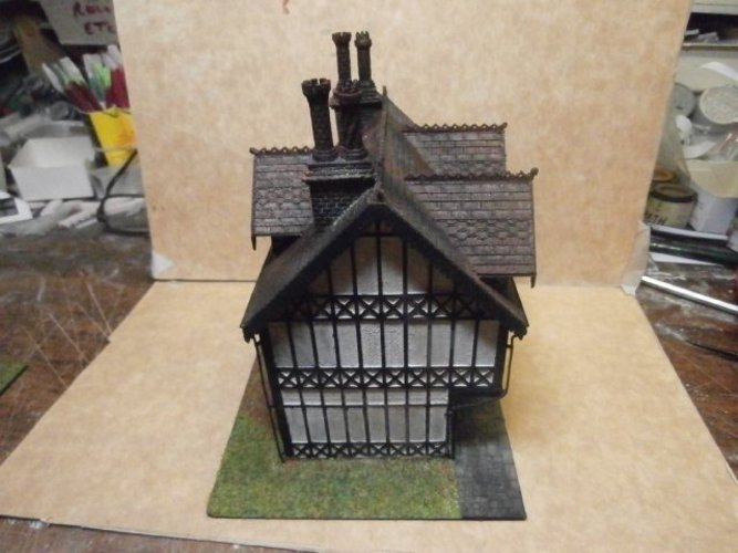 SCALEPRINT TUDOR BUILDING SMALL TAVERN 3D Print 49471
