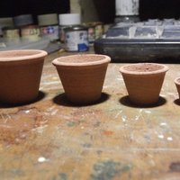 Small SCALEPRINT 1:12 DOLLS HOUSE TERRACOTTA POTS FOR PLANTS 3D Printing 49477
