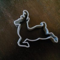 Small Deer cookie cutter 3D Printing 49660