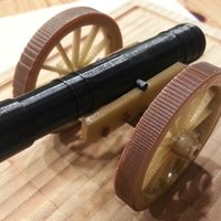 Small Historical Field Cannon 3D Printing 49703